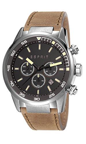 Esprit ES108021004 - Reloj de cuarzo para hombre, correa de cuero