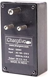 New-ChargEvo SAN-01 2 in 1 USB Ports Wall Charger & Universal Wall Socket Travel charger