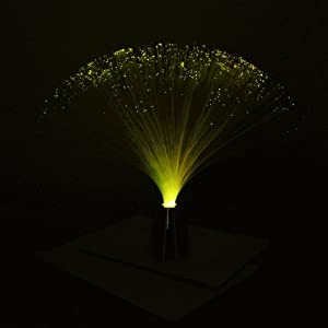 FLY-Shop® Colour Changing Optical Fiber Lamp / Fibre Optic Fountain / Night Light Calming Lamp / Colourful Artificial Gypsophila Visual Treat / Xmas Light Up Decorations Indoor Outdoor from FLY-Shop