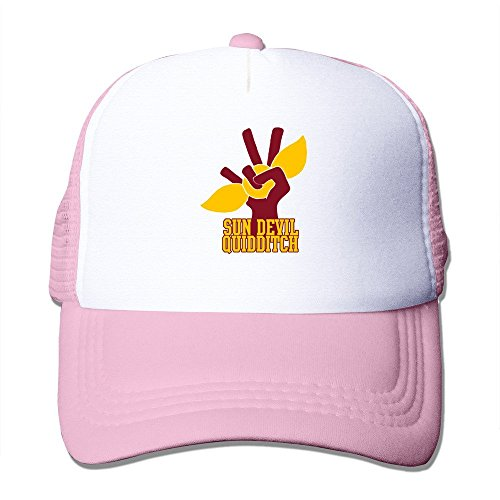Arizona State University Sun Devil Quidditch Logo Trucker Snapback Hat Cap Pink (Ohio Table Pad Company compare prices)