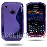 Blackberry Curve 8520 Silicone Purple S Line TPU Gel Case Cover - Part Of JJOnlineStore Accessories