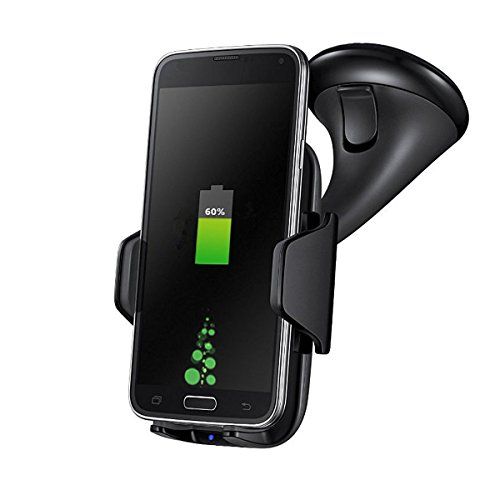 Car Mount Wireless Charging Pad,Coofun Qi Wireless Charging Vehicle Dock for Samsung Galaxy Note 5 7/S7 Edge/S6 Edge Plus/Nexus 5/7/Lumia 920 and other Phones- Black