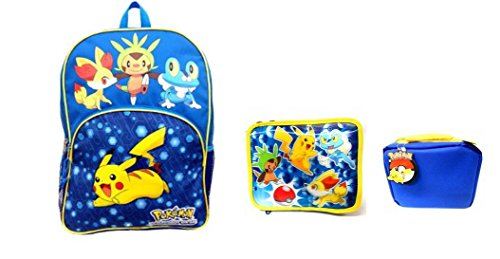 Pokemon X and Y Backpack and Lunch Bag Combo Set