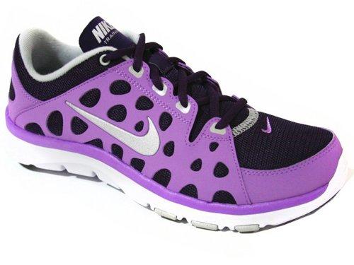 pictures of Women's Nike Flex Supreme Tr Grand Purple Metallic Platinum  Atomic Purple Sz 6.5 M