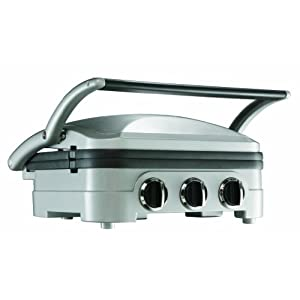 Commercial Grade Stainless Steel : Cuisinart GR4NU Commercial Grade Stainless Steel Griddle and Grill ...