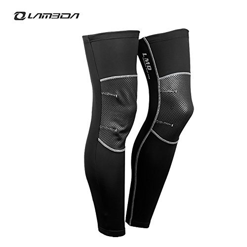 4ucycling Wind Proof Thermal Fleeced Breathable Cycling Leg warmers sleeves (Men Leg Warmers Cycling compare prices)