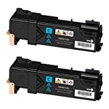 Doitwiser ® Compatible Cyan Toner Cartridges For Xerox Phaser 6500N 6500 6500DN WorkCentre 6505N 6505DN - 106R01594 - Colour High Yield 2,500 Pages (2 Pack)