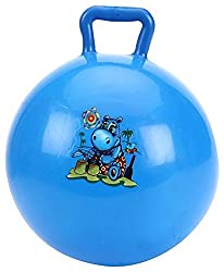 Tickles Blue Jumping Ball (Inflatable Space Hopper, Jumping Ball, Ride-on Bouncy Ball) Stuffed Soft Plush Toy Love Girl 40 cm