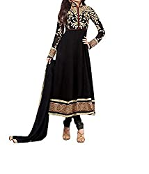Poonam Fab-Unstitch Dress Material_Kriti_Black