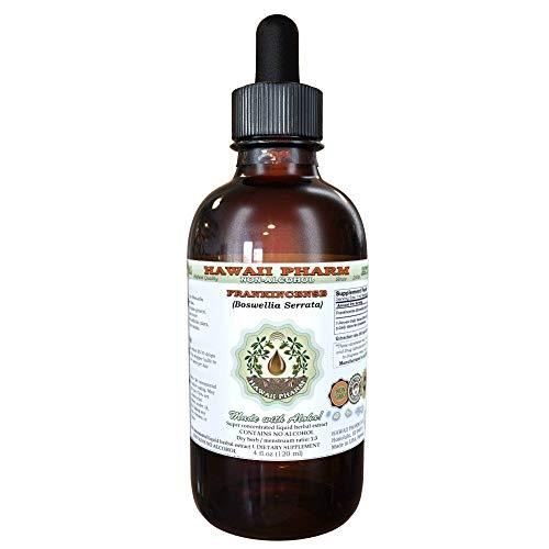 Frankincense Alcohol-FREE Liquid Extract, Frankincense (Boswellia Serrata) Dried Resin Glycerite Hawaii Pharm Natural Herbal Supplement 2 oz