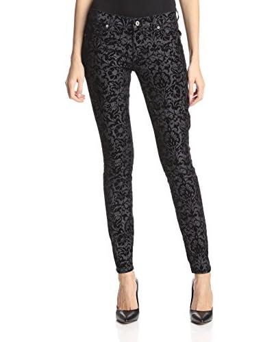 Dakota Collective Denim Women's 5-Pocket Velvet Jacquard Skinny Jean