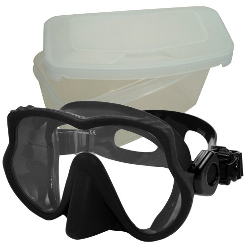 Promate Frameless Scuba Dive Snorkeling Mask, Black