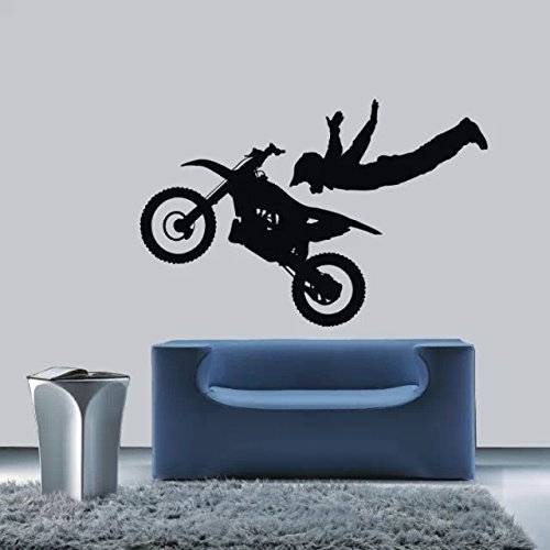 """Colorfulhall 39.37"""" X 26"""" Black Color Home Wall Decoration Extreme Sports Wall Decal Motorcycling Wall Sticker Vinyl Wall Art Decor front-232724"""