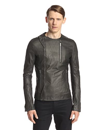 Rick Owens Men's Crew Neck Leather Biker