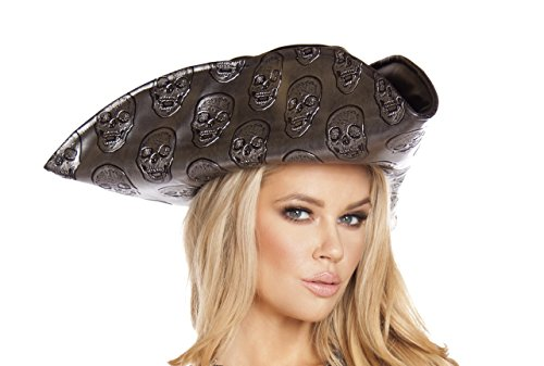 Roma Costume Women's Skull Embroidered Pirate Hat