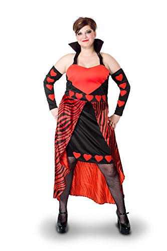 Sunnywood Women's Plus-Size Lava Diva Queen Of Hearts Costume