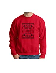 Christmas Immitation Evergreen Snowflake Sweatshirt
