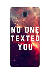 Defunk No One Texted You Mobile Cover for Oneplus 3 [Matte Finish,Hard case], Oneplus 3 back cover