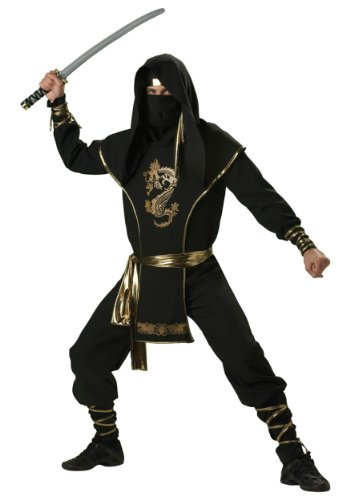 Incharacter Mens Ninja Warrior Suit Theme Party Fancy Dress Costume