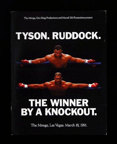 マイク・タイソン vs ラドック 海外輸入 会場限定 ボクシング パンフ