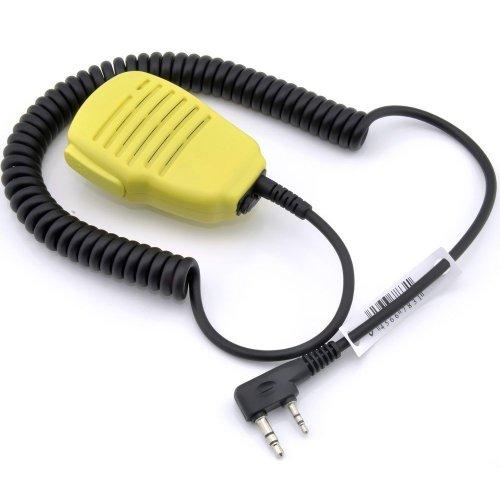 Yellow Rainproof Shoulder Remote Speaker Mic Microphone Ptt For 2-Pin Kenwood Nexedge Hytera Puxing Wouxun Radio