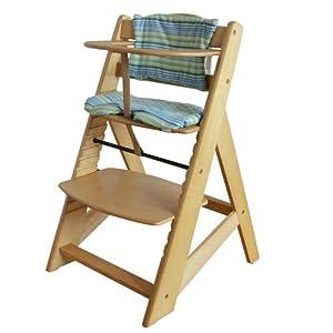 Trona estafa escalera silla para ni os trona de beb trona for Silla de bebe de madera