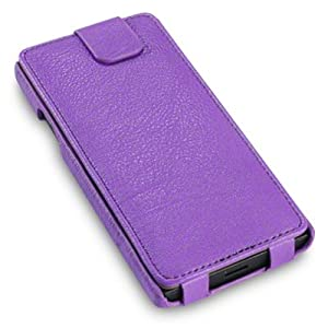 "Purple Sony Xperia S Low Profile ""Covert"" Branded PU Leather Flip Case / Cover / Pouch, with 6-in-1 Screen Protector Pack"