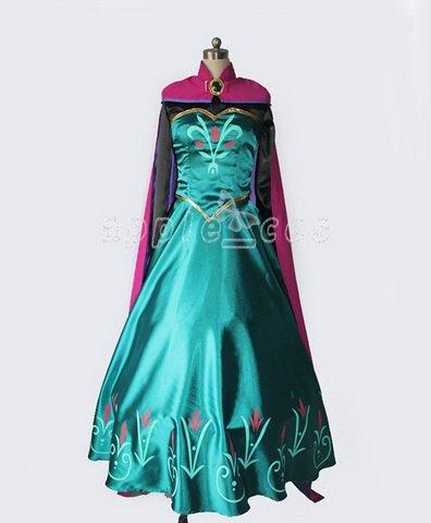 【apple_cos製】アナと雪の女王  Frozen  エルサ女王★ コスプレ衣装  男女XS-XXL オーダーサイズも対応可能