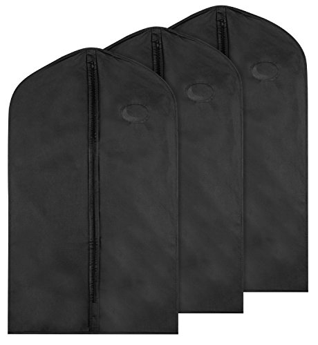 Garment Bag for Storage; Pack of 3 Bags; 40 Inches Tall; Keep Your Suits and Other Garments Safe (Disposable Plastic Garment Bags compare prices)