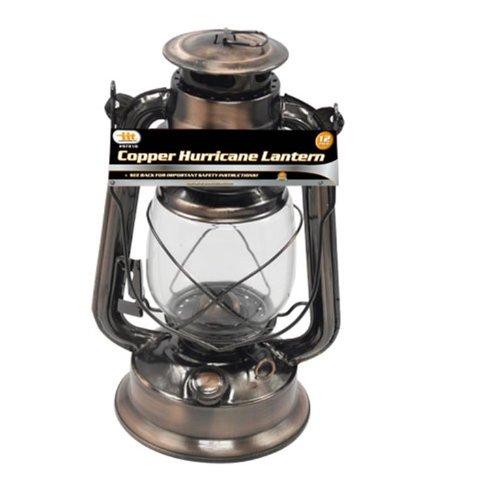 Illinios Industrial Tool Kerosene Hurricane Lantern, Copper