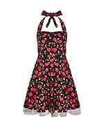 Iska Vestido (Negro / Rojo)