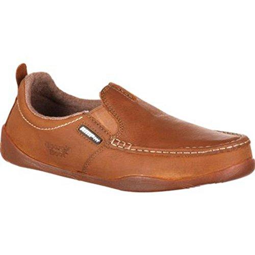 Georgia Boot Men's Cedar Falls-M Steel Toe Work, Tan, 10 W US (Steel Toe Loafers compare prices)