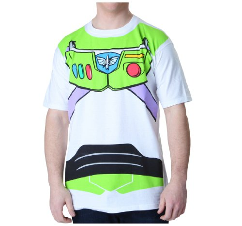 Toy Story Buzz Lightyear Astronaut Costume White T-shirt Tee