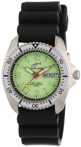 Chris Benz CBM.N.KB.SI - Reloj analógico de cuarzo unisex con correa de caucho, color negro