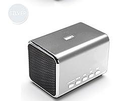 YUMQUA MD05B Portable Mini Speaker FM radio Computer Speakers TF Card/USB Flash MP4 Speaker Sliver