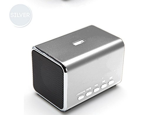 YUMQUA MD05B Portable Mini Speaker FM radio Computer Speakers TF Card/USB Flash MP4 Speaker Sliver