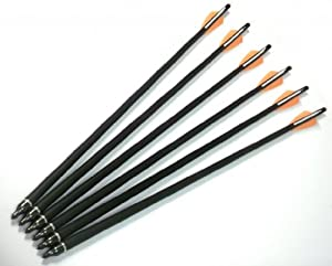 144 Pack 20 Carbon Crossbow Bolts Carbon Arrows for Hunting & Target Practice by MegaDeal