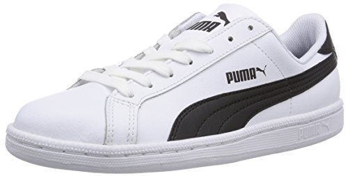 Puma - Puma Smash L, Sneakers unisex, Bianco (Weiß (White/Black)), 43
