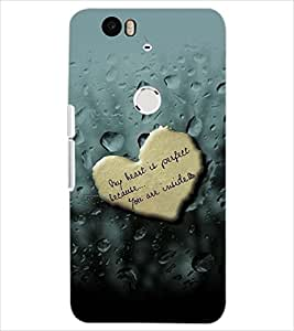 PrintDhaba HEART DROPS D-6383 Back Case Cover for HUAWEI NEXUS 6P (Multi-Coloured)
