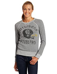 NFL Women's Pittsburgh Steelers Heather Vintage French Terry Raglan from SteelerMania