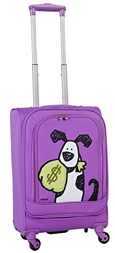 ed-heck-money-doggie-spinner-luggage-21-inch-purple-one-size
