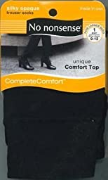 No-Nonsense Silk Opaque Trouser Socks Black Size 9-12 (3-Pack)