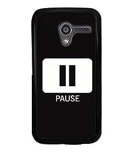 Pause Sign 2D Hard Polycarbonate Designer Back Case Cover for Motorola Moto X :: Motorola Moto XT1052 XT1058 XT1053 XT1056 XT1060 XT1055