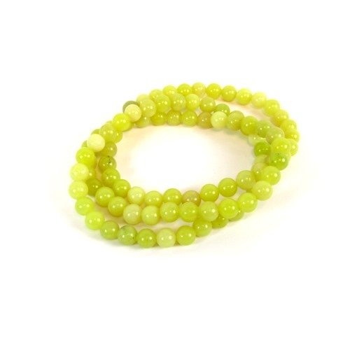 Affordable Jewelries: Yellow Jade Gemstone Stretch Triple Bracelet ...