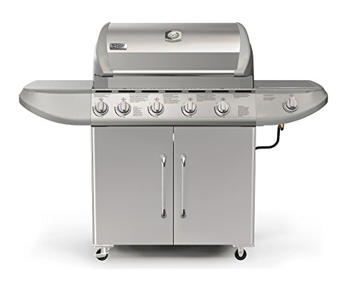 Paramount BC-580 - Broilchef 84,000 BTU Six Burners LP Gas Grill with Rotisserie, Searing & Side Burner