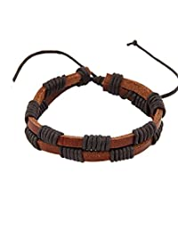 8 Republic London Mother's Day Special Brown Leather Unisex Bracelet For Women