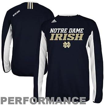 Notre Dame Fighting Irish Adidas Climawarm Sideline Crew Navy by adidas
