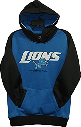 Detroit Lions Light Blue NFL Youth Active Pullover Hooded Sweatshirt - Hoody Medium... by OuterStuff