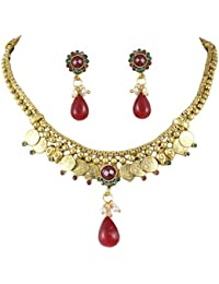 Karatcart 22K Goldplated Traditional Jewellery Set For Women - B01DY4FYRW