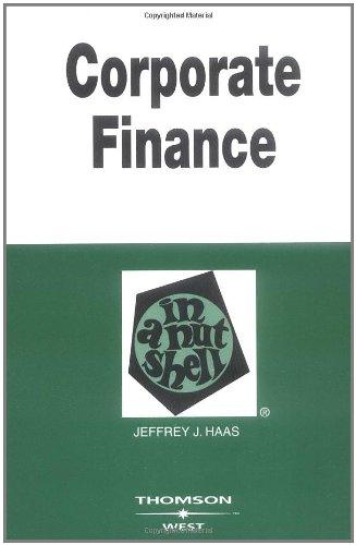 Corporate Finance in a Nutshell (Nutshell Series)